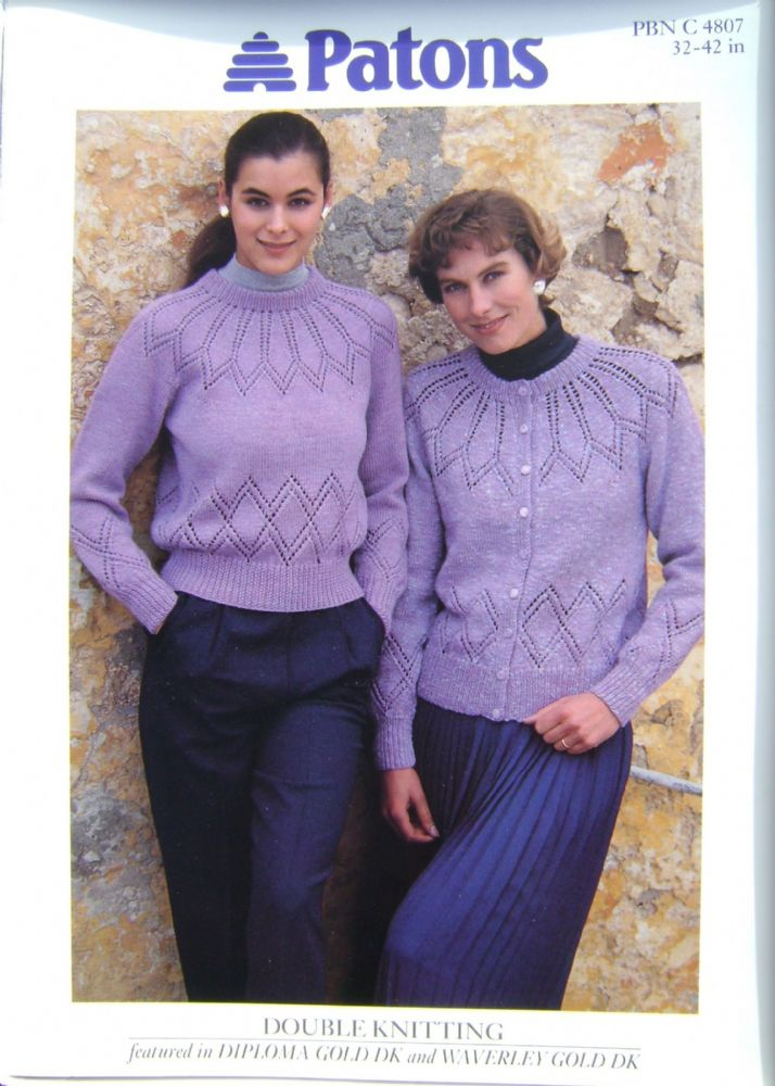 Patons Knitting Pattern 4807